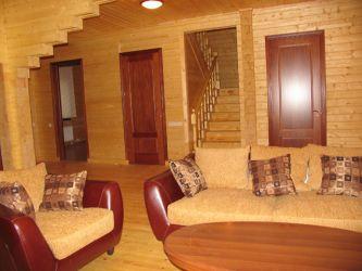 Интерьер деревянного дома галерея
